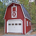 12'x24' Two Story Garage with Red Duratemp Siding / White Trim / Black 
